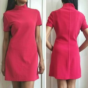 Funnel Neck Red Mini Dress Medium by The Limited